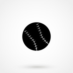 Pictogram ball baseball icon