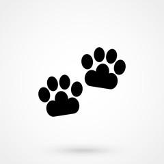cat footprints icon