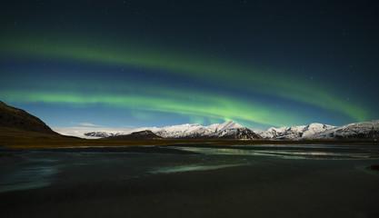 Iceland, Northen lights at night