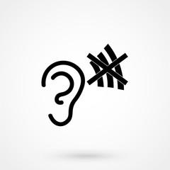 Deaf Simple Icon