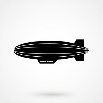 Airship zeppelin icon. Dirigible illustration.