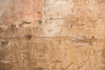 Fotobehang Oude vuile getextureerde muur The cracked stucco texture