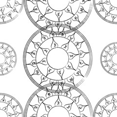 Texture with a repetitive pentacle pattern. Occult background. T
