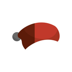 christmas hat isolated icon vector illustration design