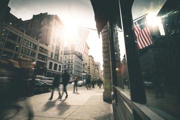 People walking 5th Avenue - New York