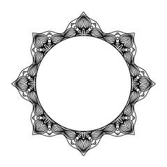 Mandala. Ethnic decorative round element. Hand drawn lacy pattern. Islam, Arabic, Indian, ottoman motifs Boho style