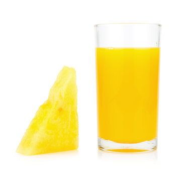 watermelon yellow slice and watermelon yellow juice and  isolated on white background