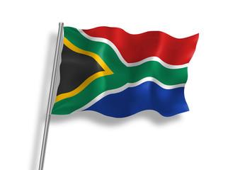 Drapeau d'Afrique du Sud en qualité vectorielle