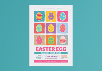 Colorful Easter Event Poster Layout
