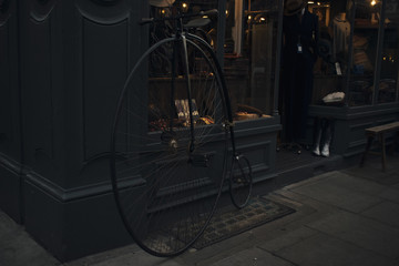 Vintage Bicycle in front of London store