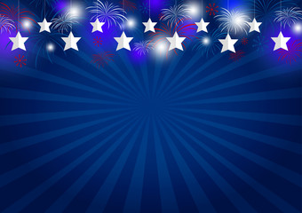 Vector background design of USA holiday or other celebration