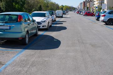 Asfalto, pavimentazione stradale, parcheggio