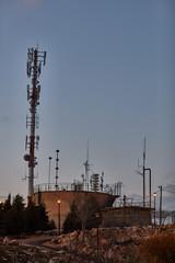 Ariel - 03 January 2017: Cellular antenna in a park, Ariel, Israel
