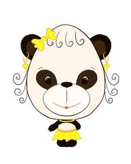 small, funny panda girl