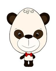 small, funny panda boy