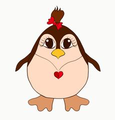 funny penguin girl