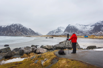 The man who takes pictures of the landscape