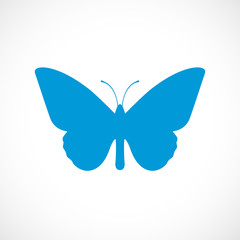 Butterfly silhouette vector icon