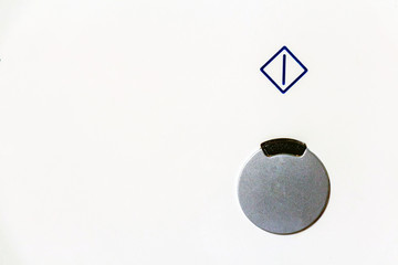 Power button close up