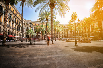 Foto op Canvas Barcelona Plaza Real in Barcelona