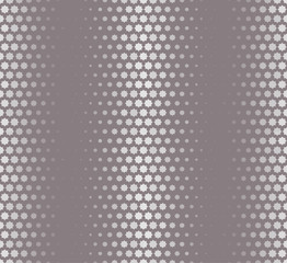 Isolated abstract grey color starlike pattern, seamless texture vector illustration