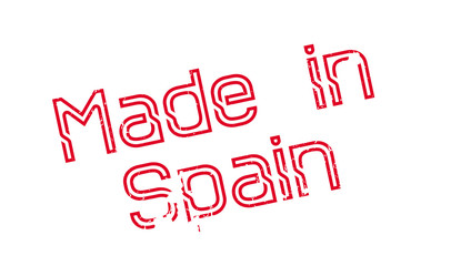 Made In Spain rubber stamp. Grunge design with dust scratches. Effects can be easily removed for a clean, crisp look. Color is easily changed.