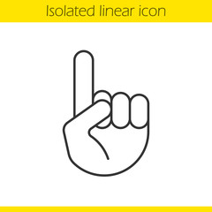 Attention linear icon