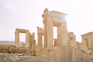 This is Persepolis ancient city , famous place to visit ,one of world heritage site , UNESCO in Shiraz , Iran