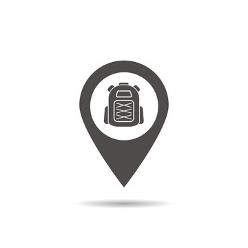 Hiking base location icon