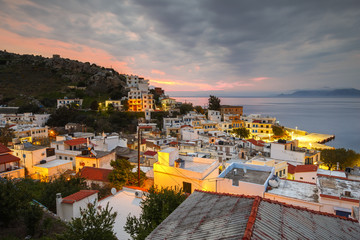 Agios Kirikos village on Ikaria island in Greece.