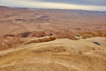 The Negev mountain desert view