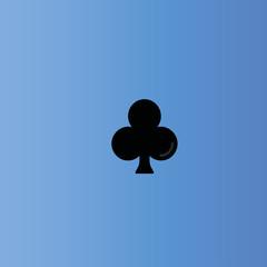 Playing card club icon. flat design