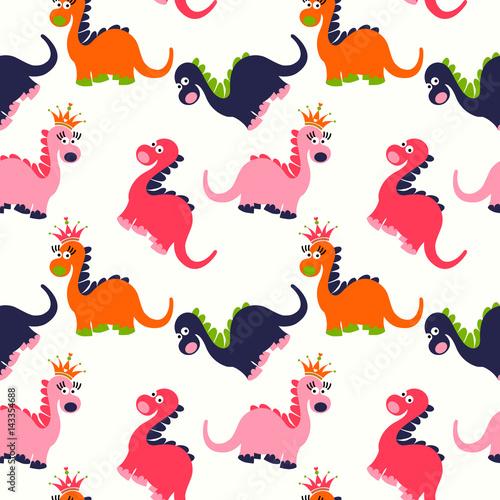 quotcute dinosaur seamless pattern adorable cartoon