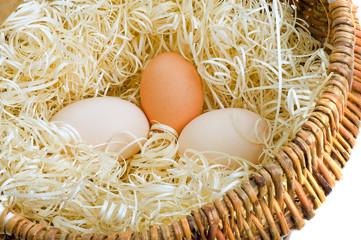 Three fresh eggs