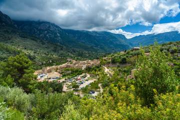 Fotobehang Chinese Muur Fornalutx - historical village in the mountains of Mallorca, Spain