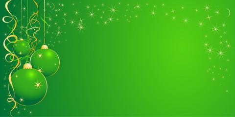 Christmas illustration for design in green color