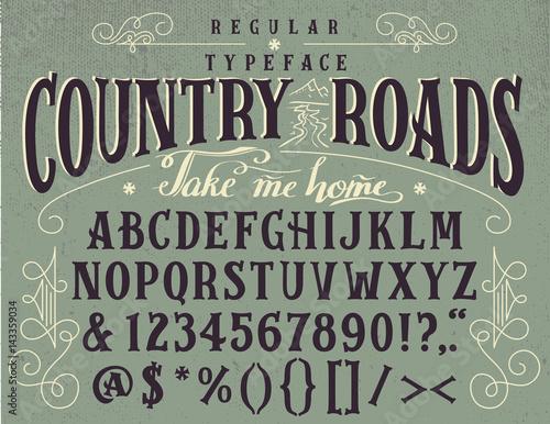 Handcrafted Retro Regular Typeface Vintage Font Design