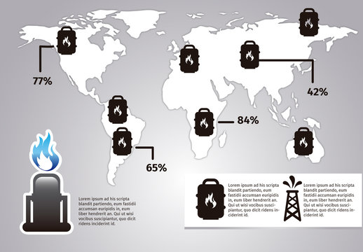 Multipurpose Oil and Gas Industry Infographic 1