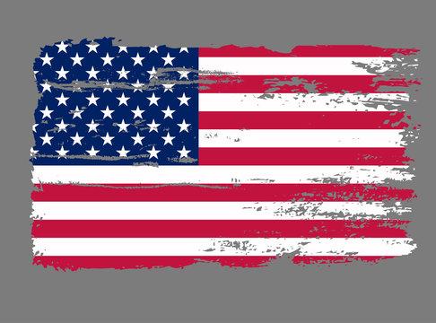 Flag USA Grunge vector