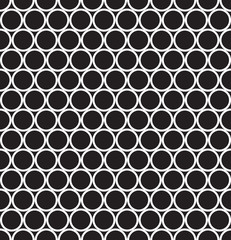 Seamless vector abstract geometric ring pattern background