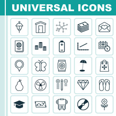 Set Of 25 Universal Editable Icons. Can Be Used For Web, Mobile And App Design. Includes Elements Such As Marker, Conversation, Duchess And More.