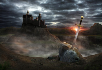 Fantasy Castle Camelot Wall mural
