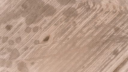 Aerial View of Dry Fields