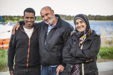 Sweden, Bleking, Solvesborg, Portrait of smiling people