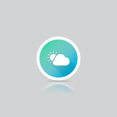Modern Round Weather Icon