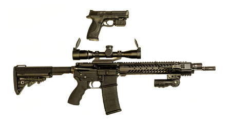 pistal and ar-15