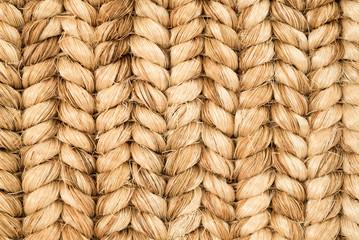 Hand Woven Sisal Rug Detail.