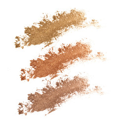 Colors shade brown and golden tone eye shadow