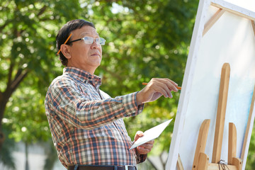 Middle-aged painter