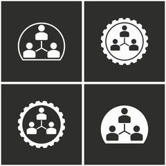 Human interaction icon set.